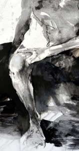 15._Franta,_Oddech_(2011)_lavírovaná_kresba_tuší_na_papíru,_163_x_130_cm
