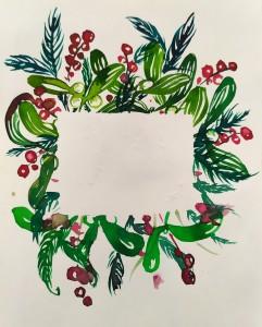akvarel - vánoce